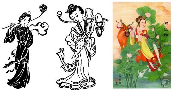 Символы удачи и защиты в фен шуй - Восемь бессмертных